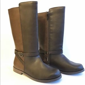 Girls Brown Riding Boots Size 3